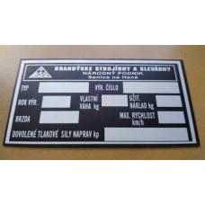 Výrobné a popisné  štítky plechové